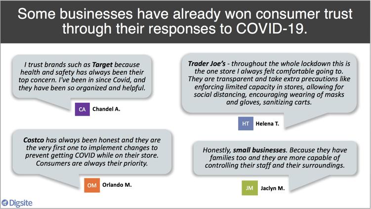 Consumers trust companies