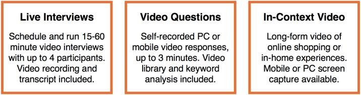 Live Video Interviews Description